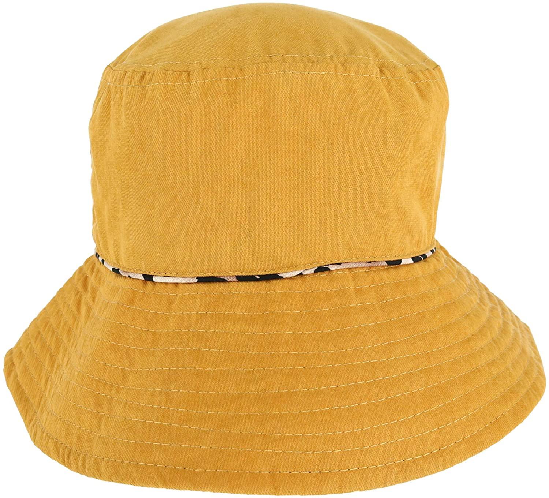 David & Young Women's Reversible Leopard Bucket Hat