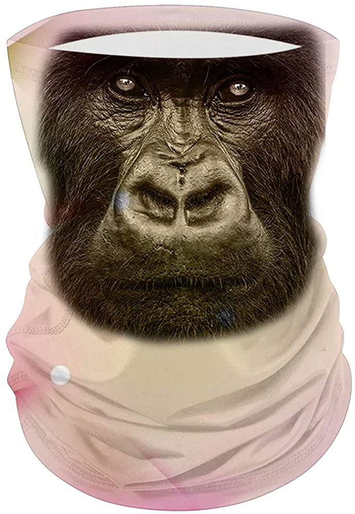 Women Men High Elastic Magic Bandana Polyester Fabric Animal Pattern Gorilla Head Headwear