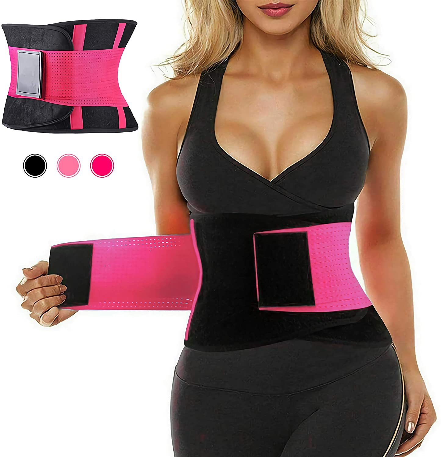 MMOUNT Waist Trainer Belt for Weight Loss - Sport Girdle Belt -Waist Cincher Trimmer Slimming Body Shaper Belt