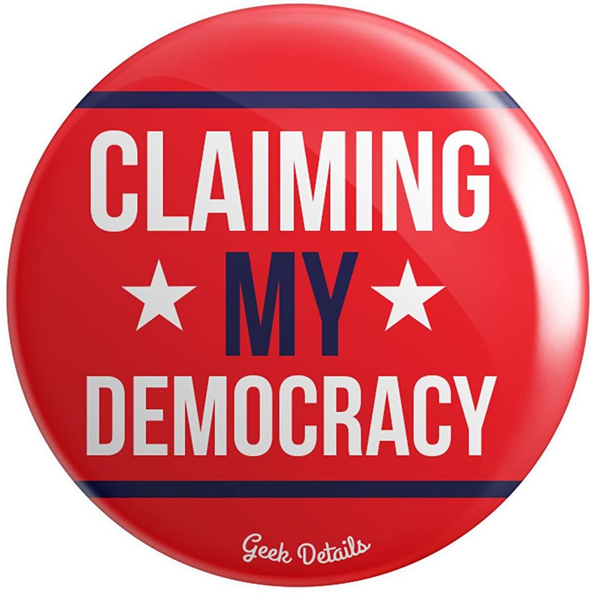 Geek Details Political Themed Pinback Button