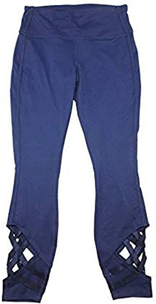 Active Life Womens Cross Strap Yoga Activewear Leggings Pant Navy Size XXL 2XL Double Extra Large