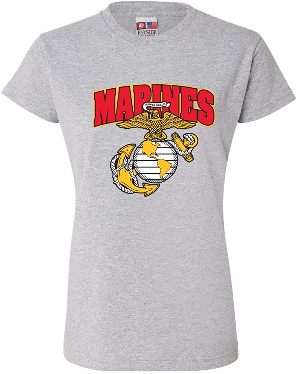 Marines w/Emblem T-Shirt for Women