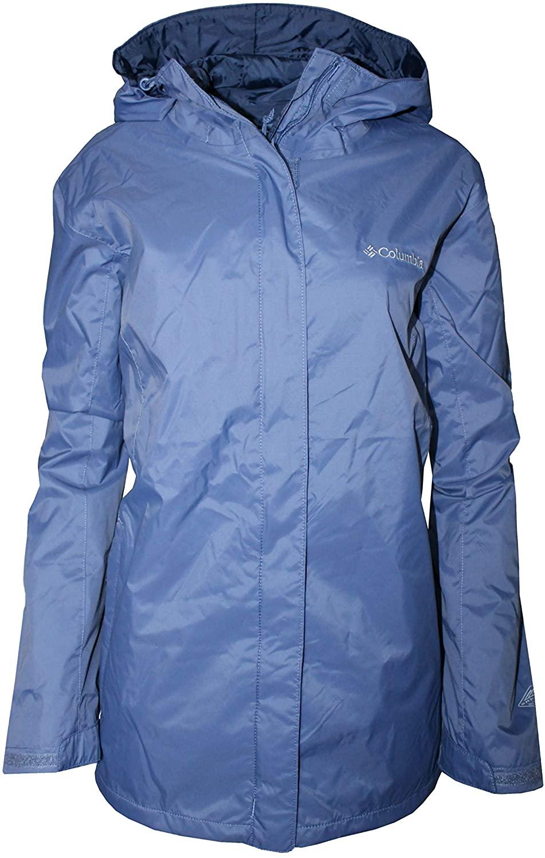 Columbia Women's Plus Marys Peak II Hooded RAIN Jacket Blue