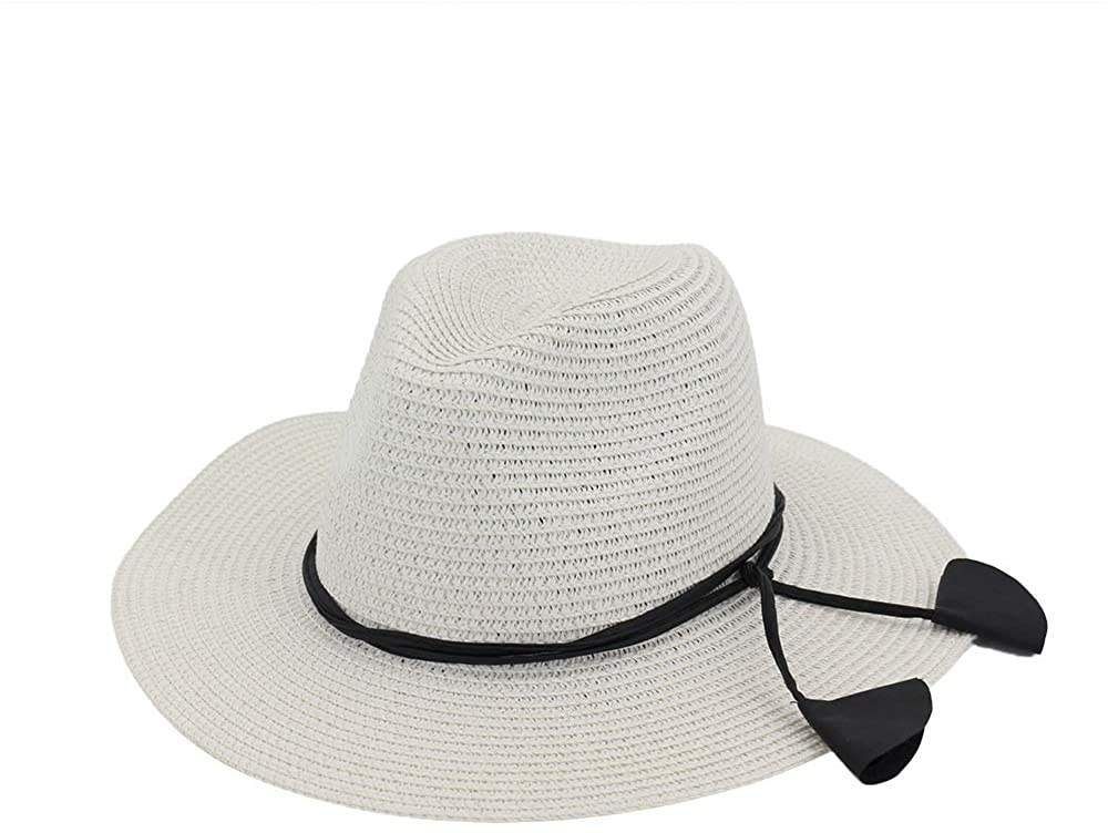 HYJ Sir Jazz hat hat Lady Couple hat Outdoor Beach Sun Visor hat (Color : White, Size : One Size)