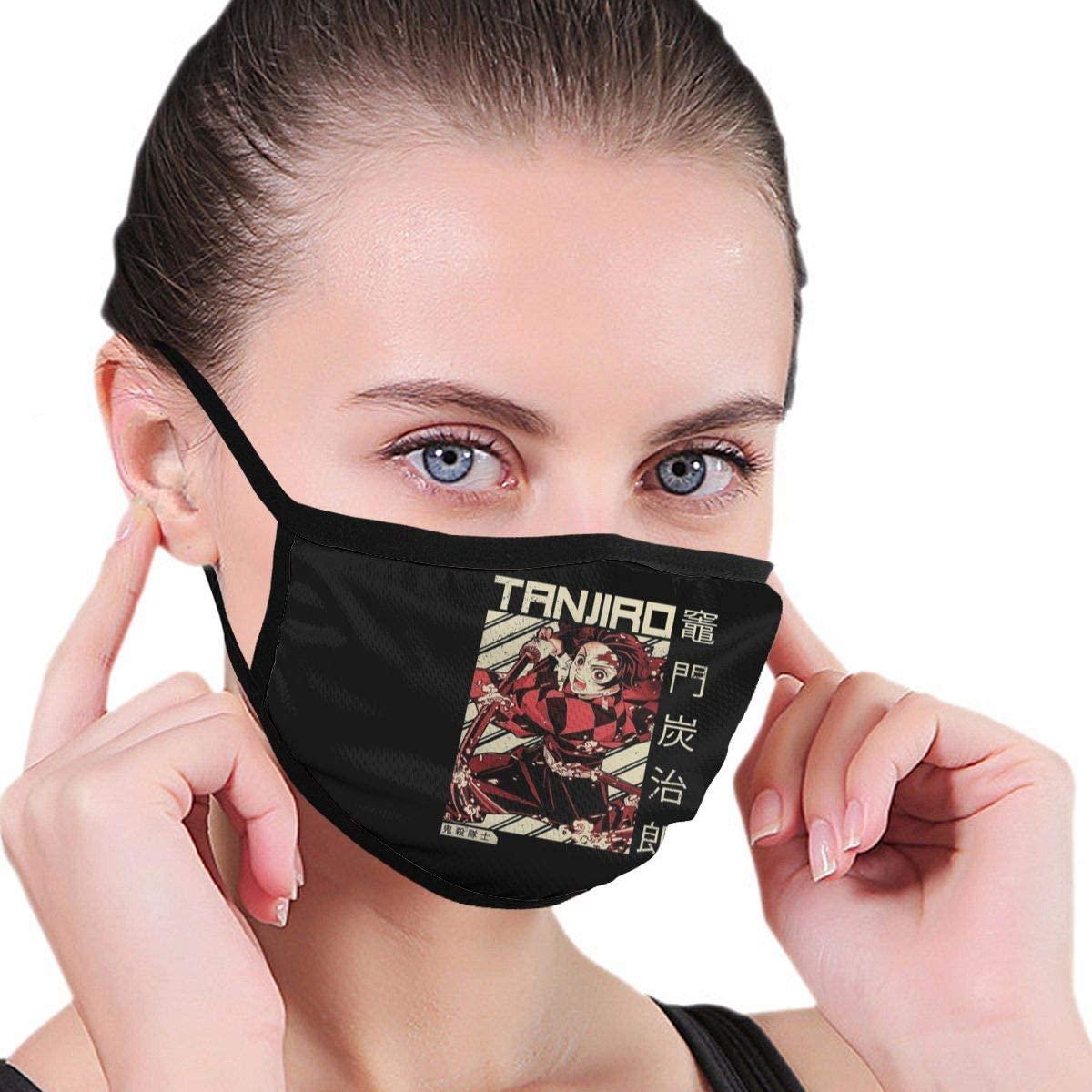 Classic Protective Unisex Kimetsu No Yaiba Demon Slayer Sun Dust Wind Proof Polyester Mask Washable Reusable Mask