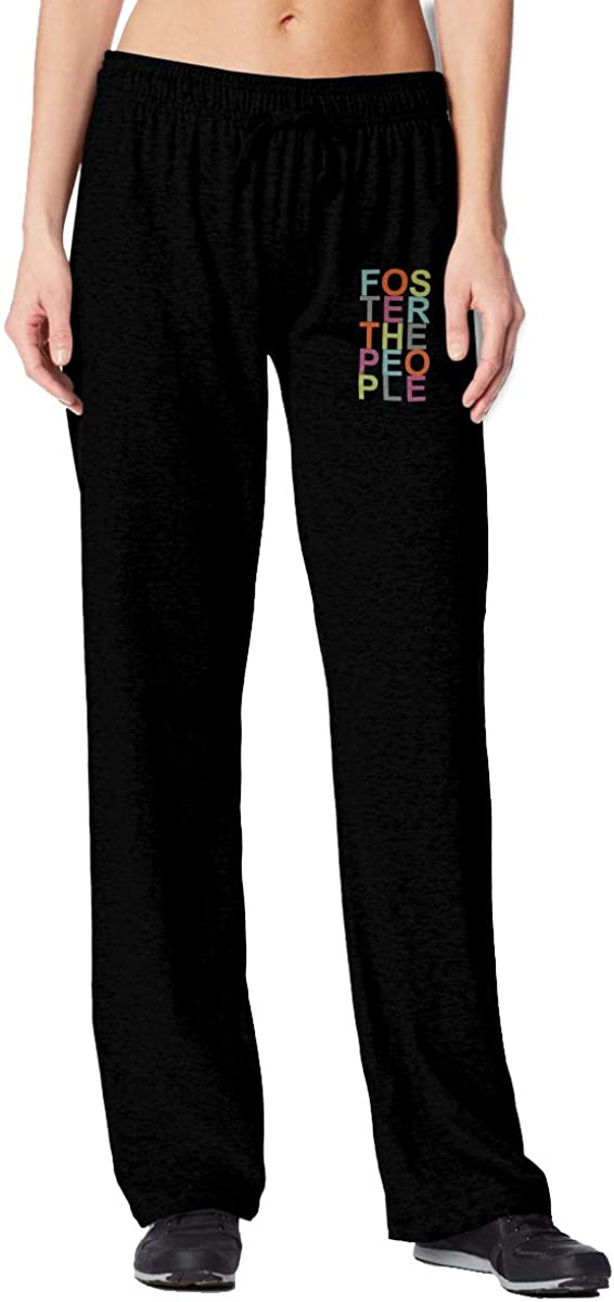 PEACE NEW STORE Women's Slim Jogger Pants, Foster The People Sweatpants for Training, Running, Sports, Workout