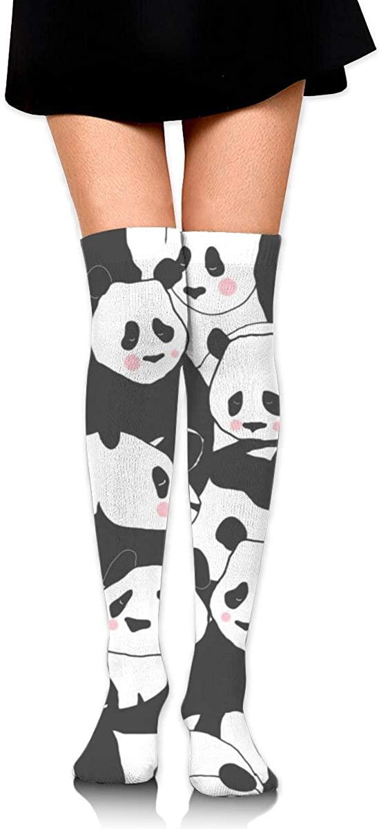 Dress Socks Cute Panda Bear Cartoon High Knee Hose Hold-Up Stockings