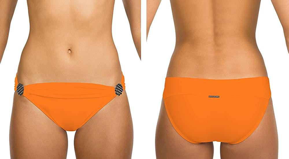 Swim Systems Womens Tiger Lily Banded Hipster Bikini Bottom Tiger Lily L