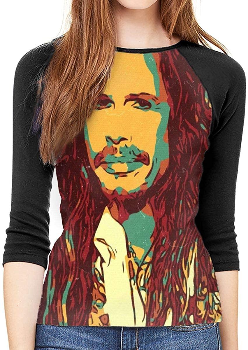 Aerosmith Steven Tyler Art Women Baseball T Shirt 3/4 Sleeve Raglan Tee Tops
