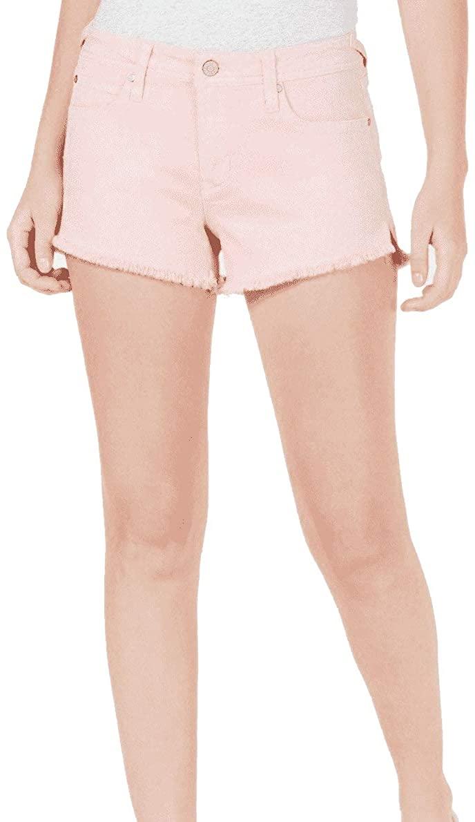 Tinseltown Juniors' Frayed Denim Shorts