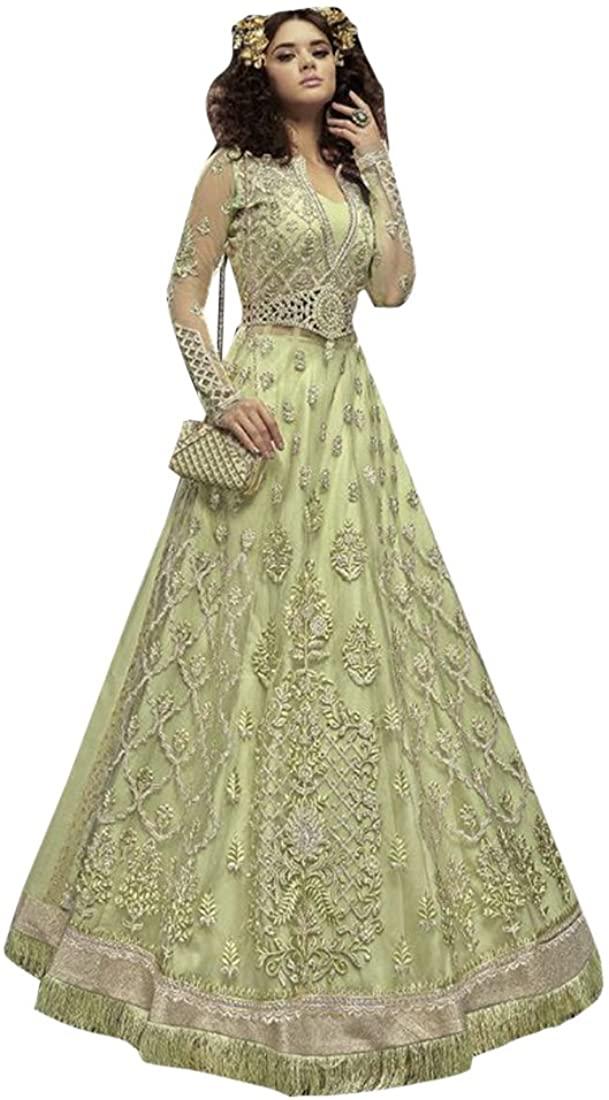 Bollywood Heavy Work Bridal Long Lehenga Pants Style Anarkali Salwar kameez Suit Bridal Muslim Wedding Custom to Measure Eid Indian 2509