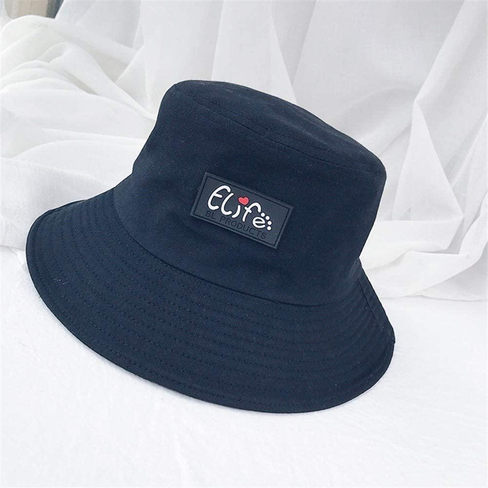 Bin Zhang Cute Girl's Mind ins Wind hat Female Summer Korean Wild Leather Standard Love Letter hat Female Japanese Tide (Color : Black, Size : One Size)