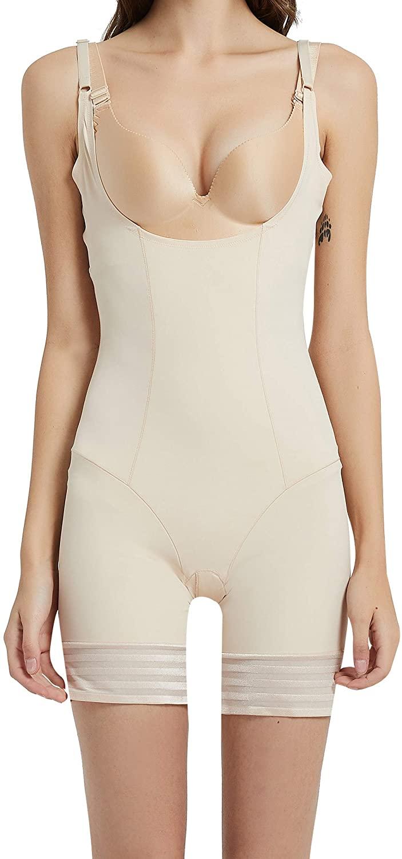 Vvarschi Women's Tummy Control Shapewear, Summer Seamless Shaper Open Bust Smoothing Bodysuit