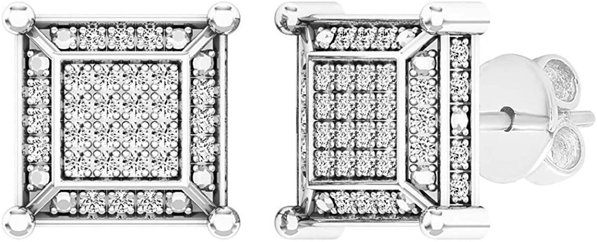 Dazzlingrock Collection 0.25 Carat (ctw) Round White Diamond Kite Shape Stud Earrings