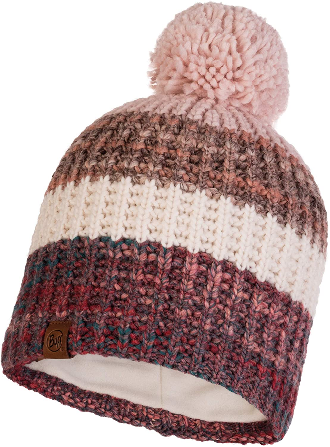 Buff Women's Alina Knitted & Polar Hat, Blossom Red, One Size