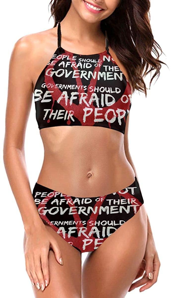 Amy J Nace V for Vendetta Fashionable Sexy Women's Swimwear Swim Trunks Thickened Straps Bandage Bikini Swimsuit