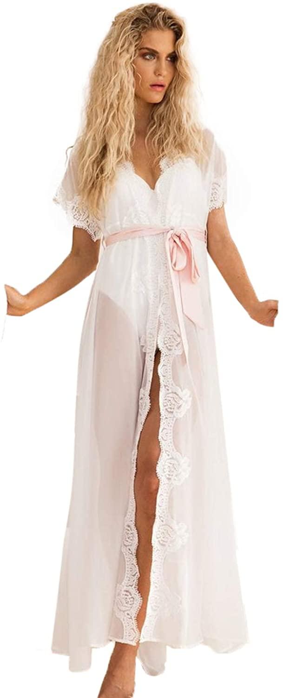 BathGown Chiffon Bridal Robe Floor Length Robe with Long Wedding Ivory Chiffon Getting Ready Robe