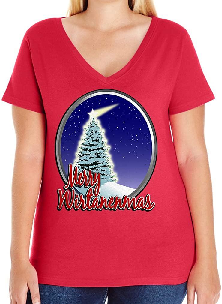 Tenacitee Women's Merry Wirtanemas V-Neck T-Shirt