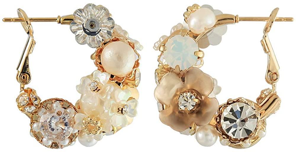 Swarovski Crystal Handmade Earrings with cubic zirconia for Women Circle Hoop earrings