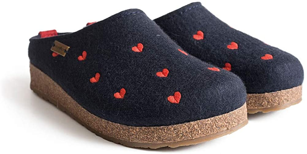 HAFLINGER Women's GZ Cuoricini Wool Clogs