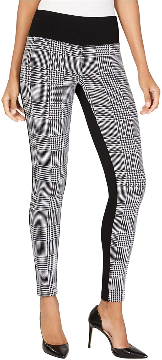 I-N-C Womens Houndstooth Front Casual Leggings
