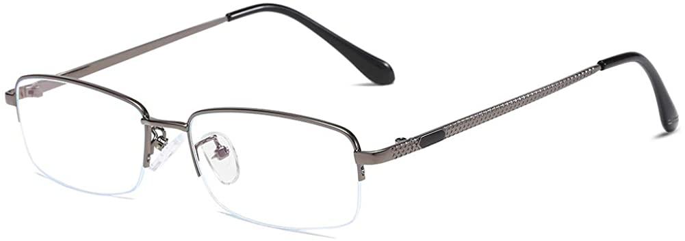 Unisex Glasses Frame Fashion Grey Rectangle Full Frame Decoration Prescription Glasses
