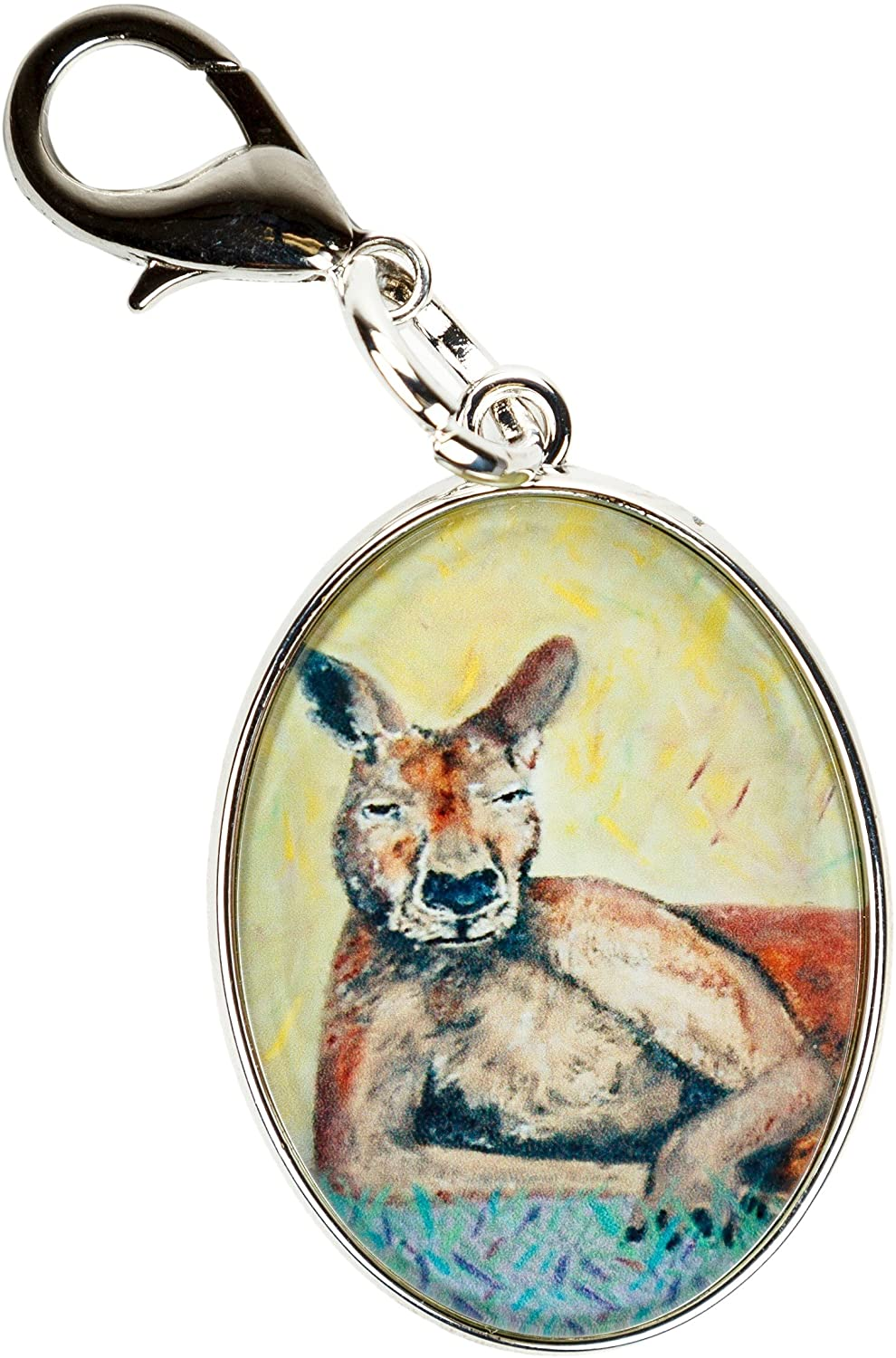 Animal Bag Charm with Lobster Claw Clasp, Zipper Pull, Purse Charm - Bag Jewelry