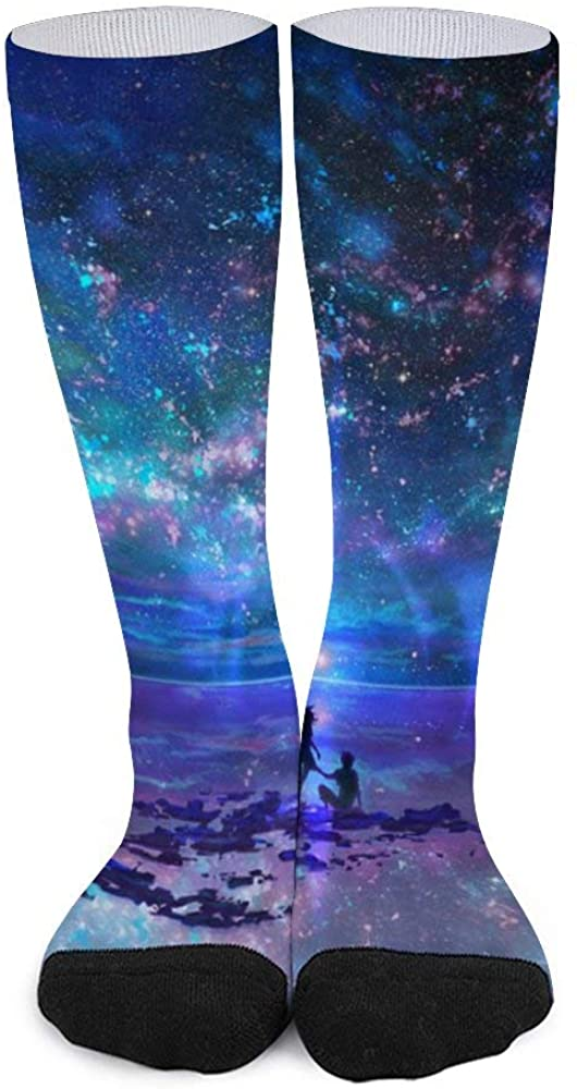 Unisex Color Matching Stockings Sea And Beatul Out Space