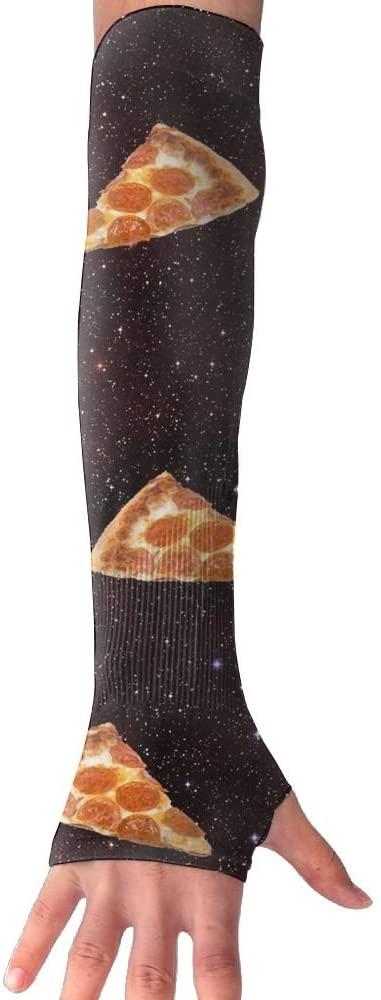 Huadduo Pizza Galaxy Women's Super Long Fingerless Anti-uv Sun Protection Golf Driving Sports Arm Sun Sleeves Gloves