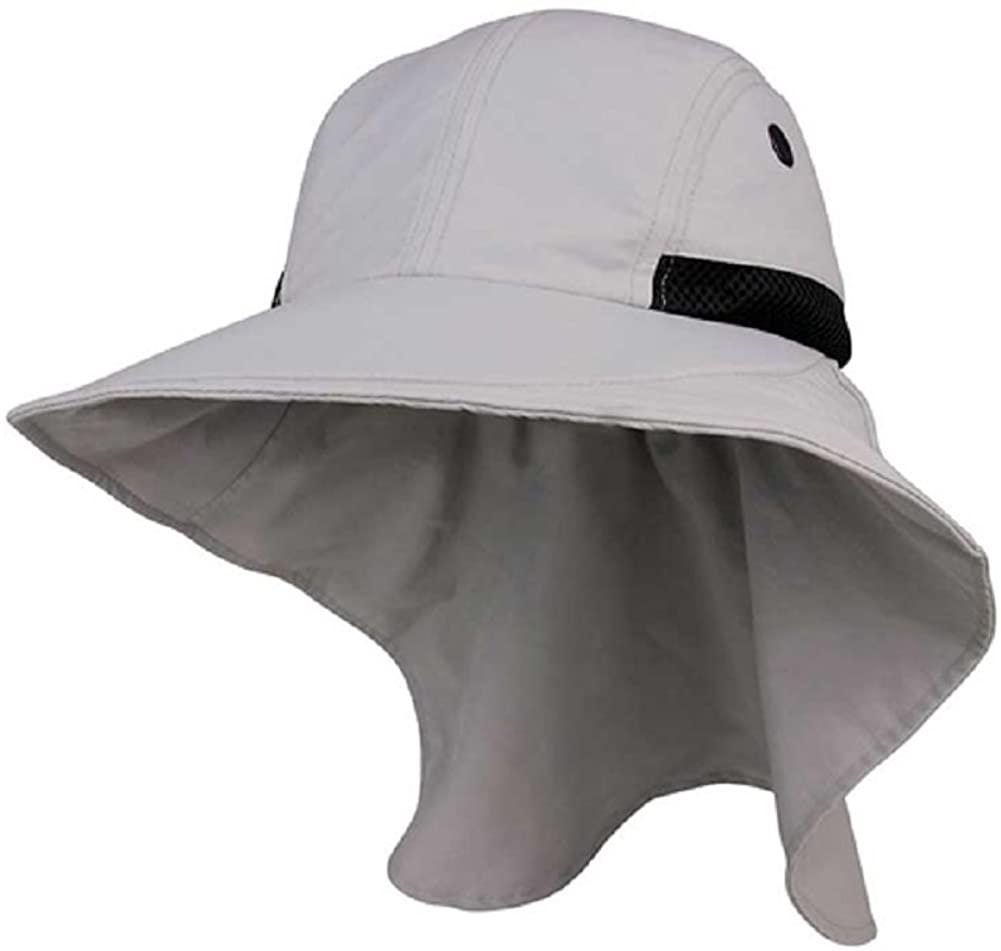 JUNIPER Womens Wide Brim Sun Flap Hat Camping Boating Grey