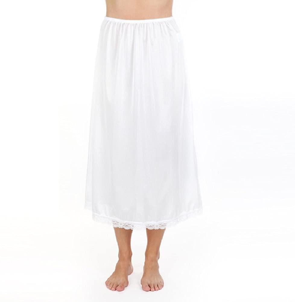 Velrose Lace-Trimmed 31'' Half Slip Style 2731 (Large, White)