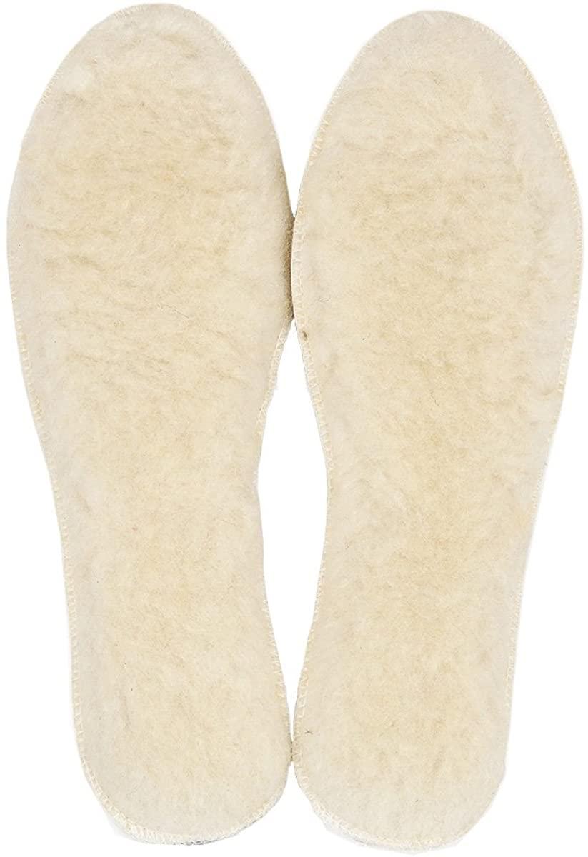 LAMBAA Unisex Sheep Wool Fleece Insoles Warm Soft Cozy