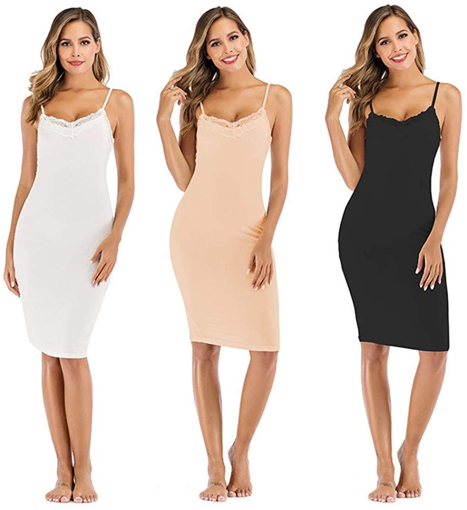 Women's Cami Slip Dress - Soft Modal Cotton Tank Top Dress Sleepwear