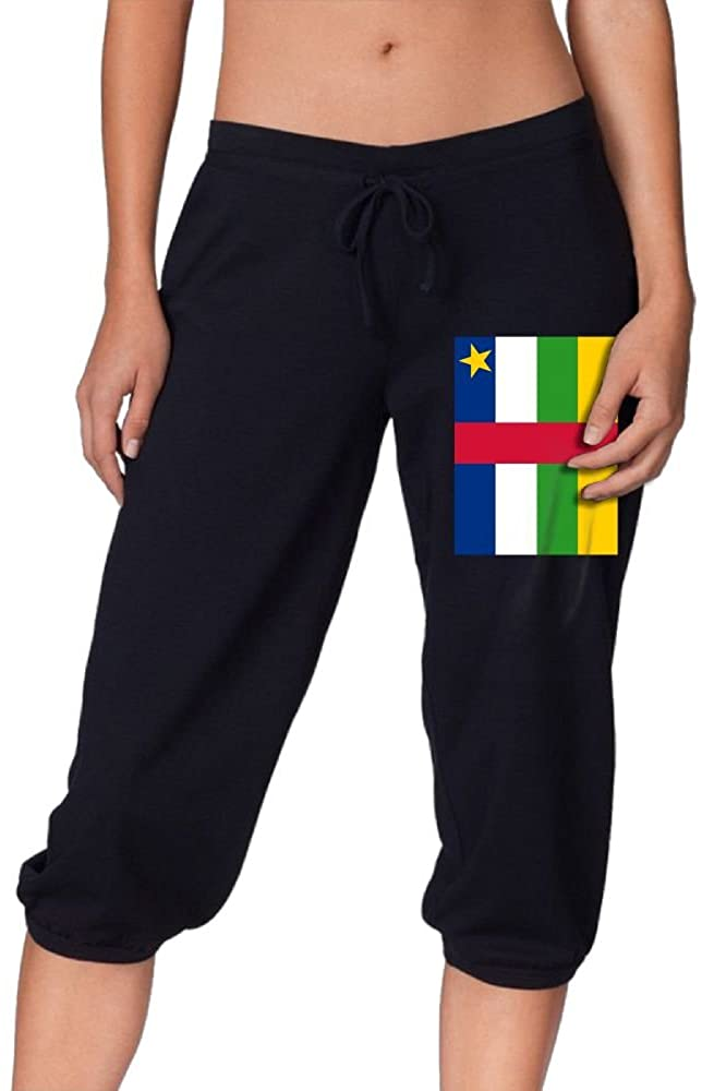 Central African Flag Sports Women's Cropped Trousers Casual Pants Jogger Sweatpants