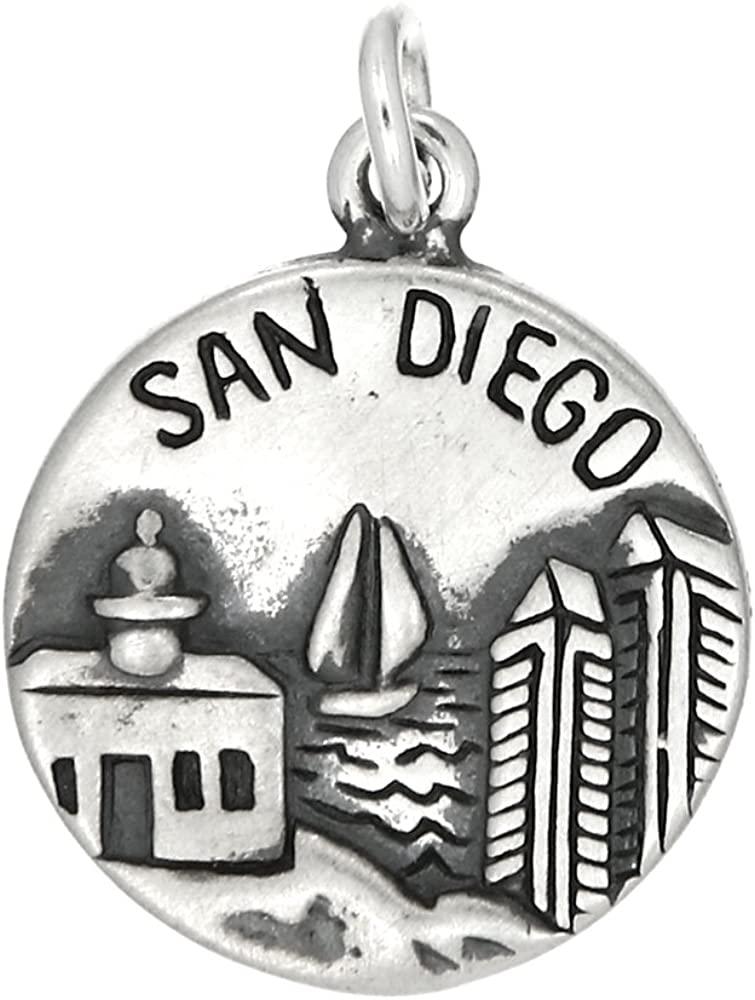 LGU Sterling Silver Oxidized San Diego Americas Finest City Charm