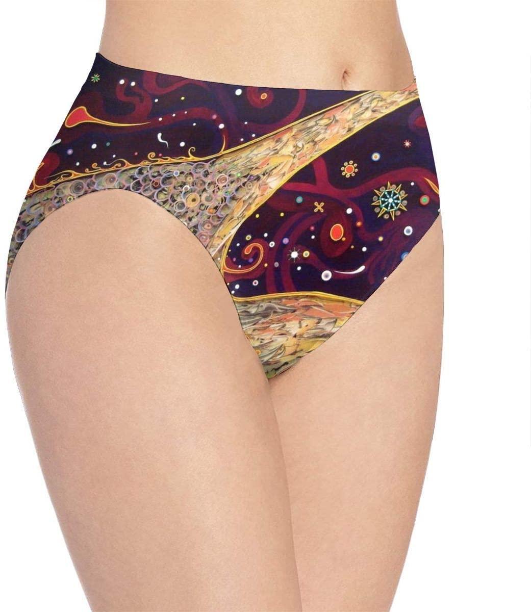 Kjaoi 3D Print Soft Women's Underwear, Hippie Fashion Flirty Sexy Lady's Panties Briefs