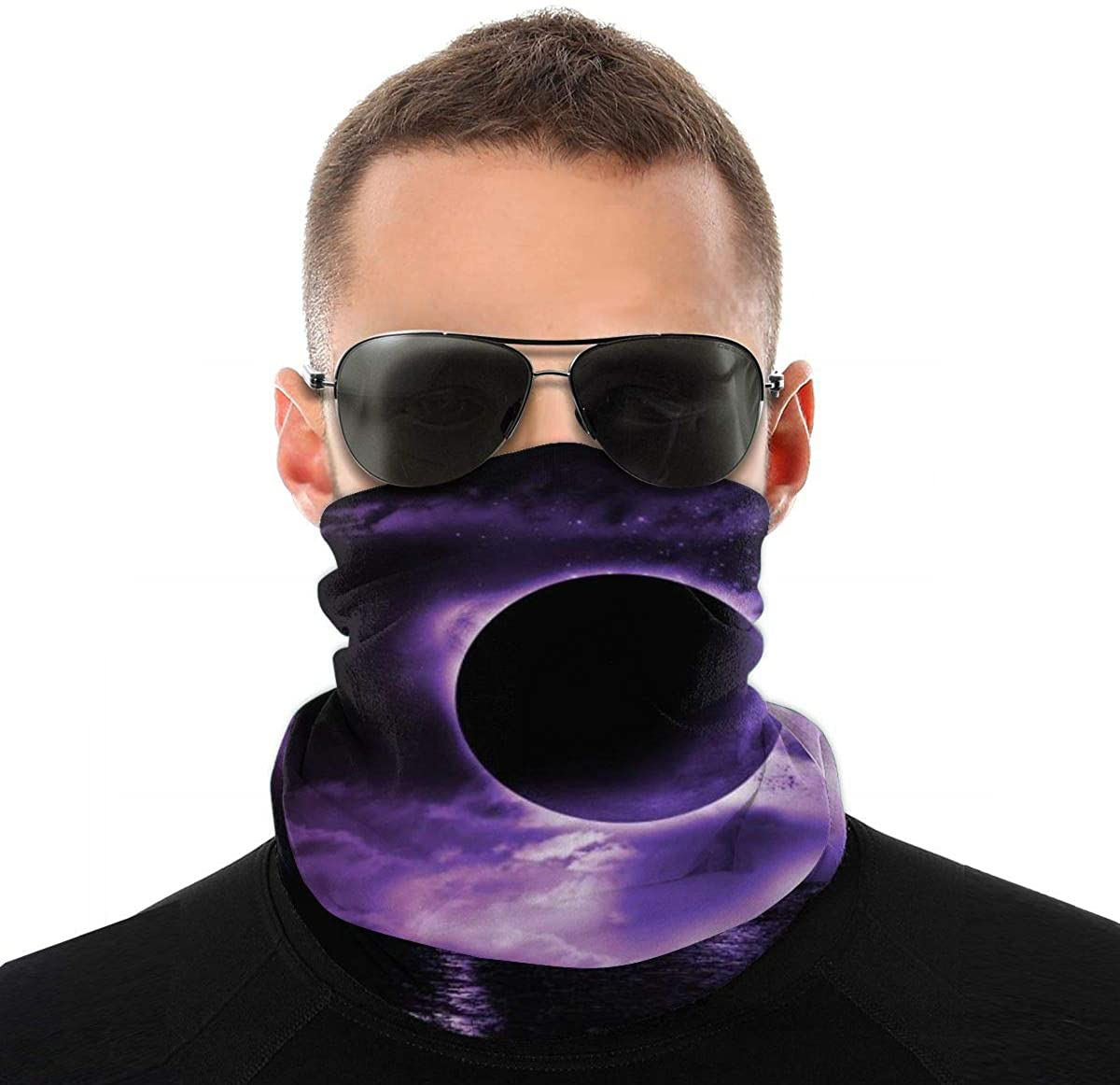 Breathable Neck Gaiter, Yin Yang Design Sun UV Windproof Face Cover Scarf Seamless Face Mask for Fishing Motorcycling Hiking