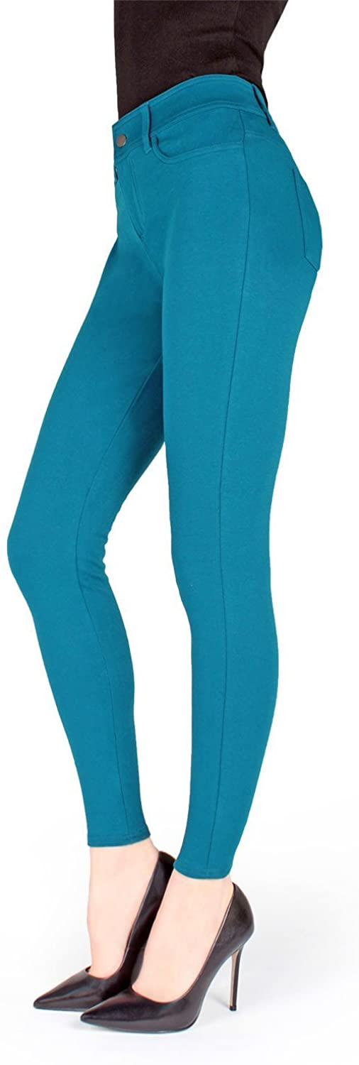 MeMoi Pants-Style Ponte Leggings | Women's Premium Fashion Leggings