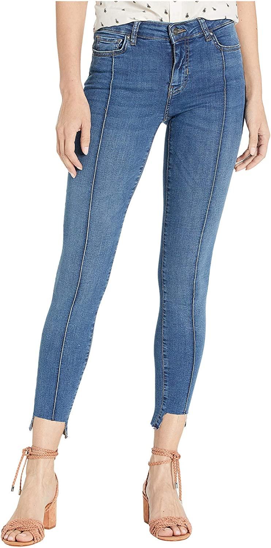 Free People Low Rise Pintuck Skinny Jeans