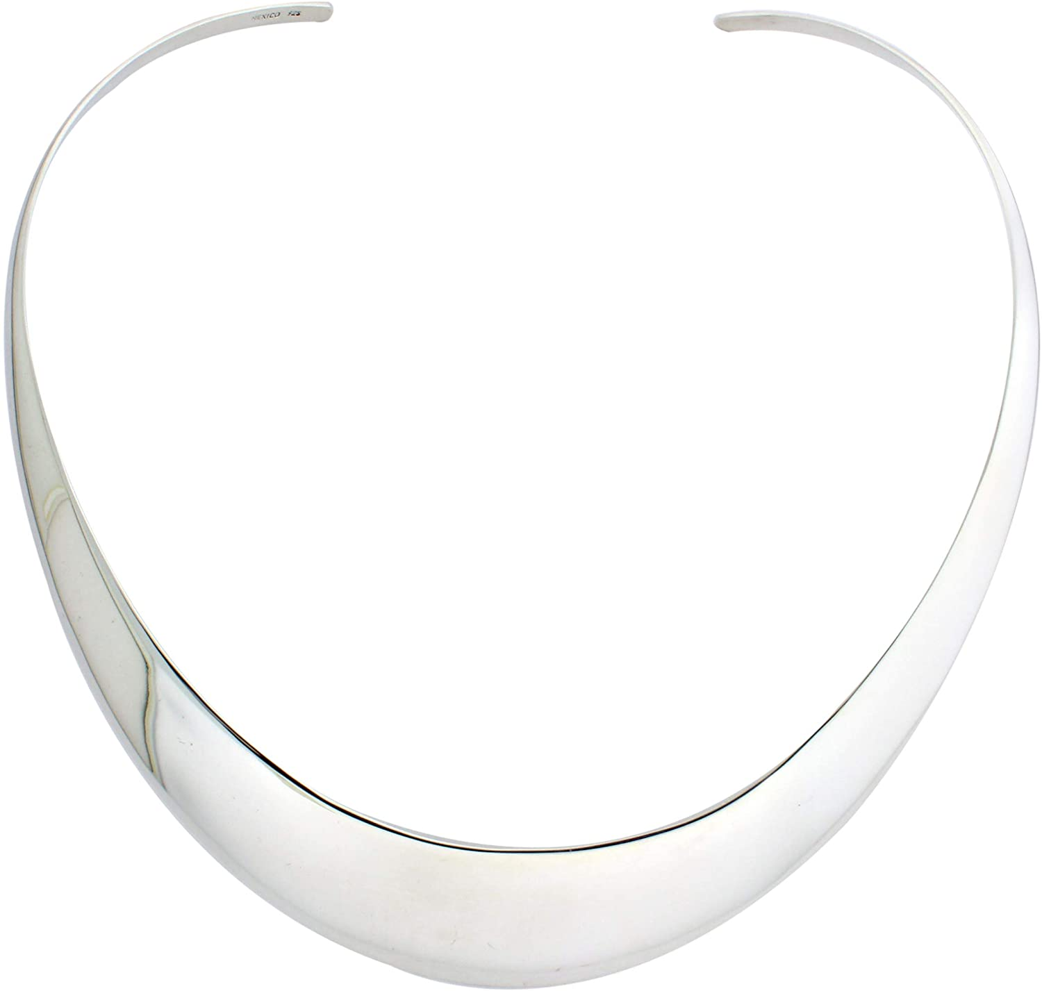 Solid Sterling Silver High Polished Graduated 4 to 22mm 18