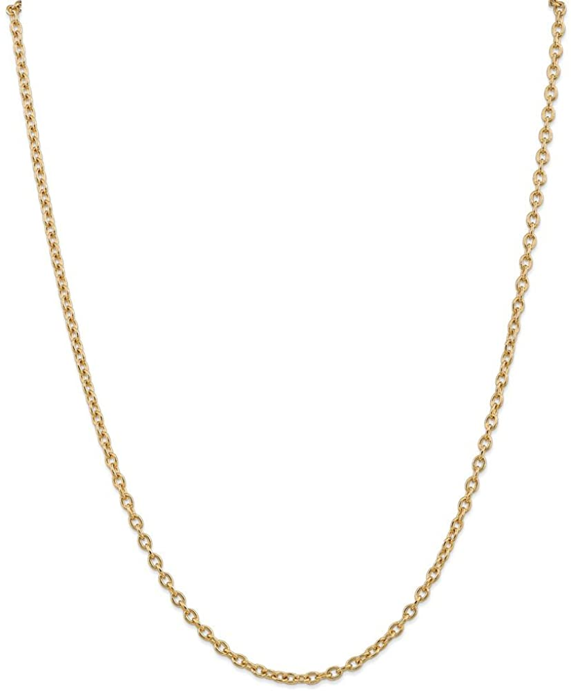 Jewelry Necklaces Chains 14k 3.2mm Cable Chain