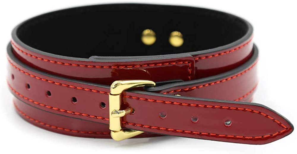 sd finger Red PU Leather Punk Gothic Rock Neck Collar Neckband Accessories