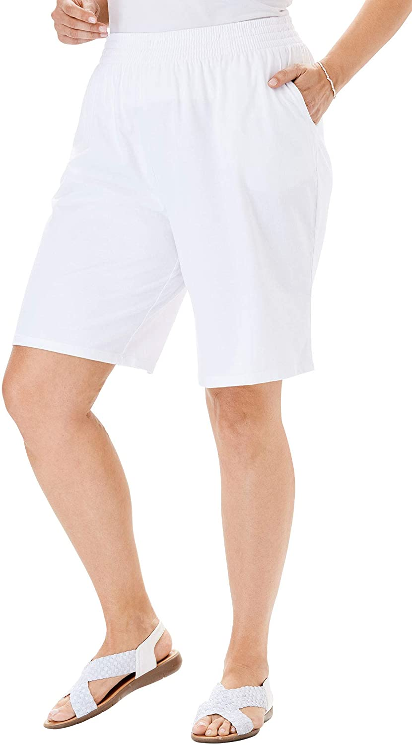 Woman Within Women's Plus Size Jersey Knit Short