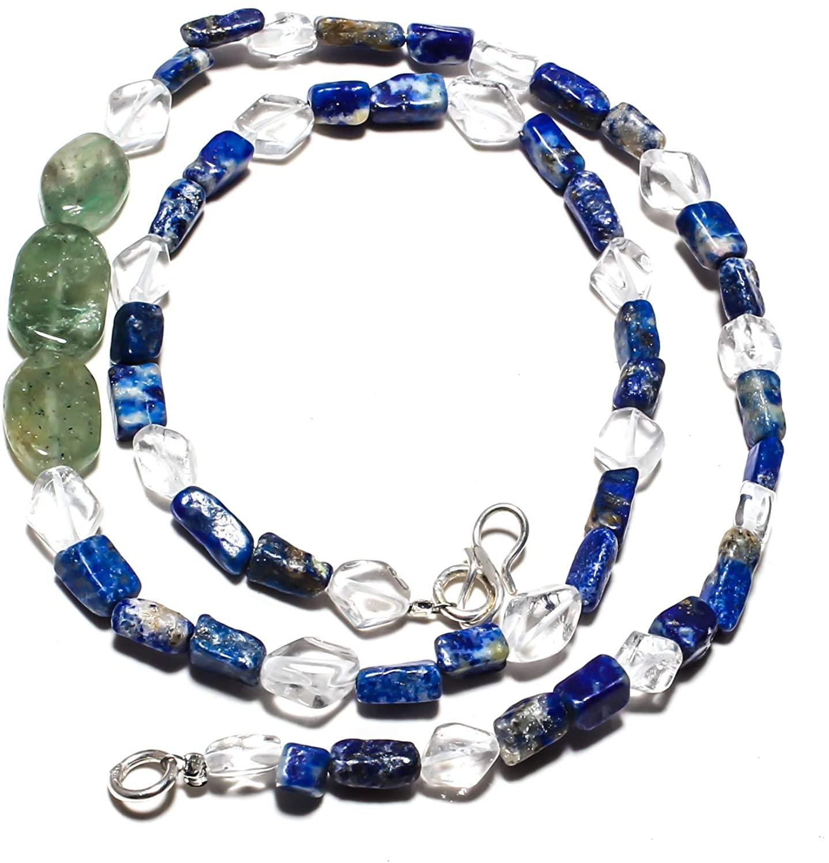 kanta incorporation Aventurine Natural Gemstone Beads Jewelry Necklace 17