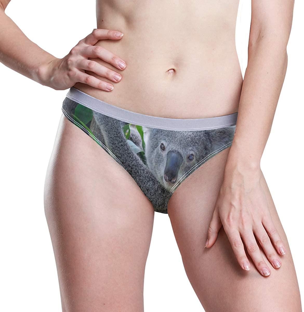 SLHFPX Koala Women's Underwear Sexy Thong Panty Low Rise Briefs