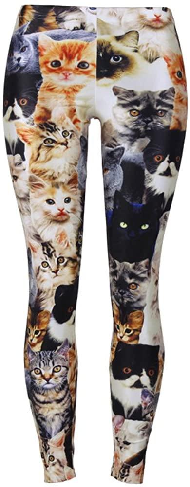 QZUnique Women's Ultra Soft Printed High Elastic Stirrup Leggings Ninth Yoga Pants with Variant Designs
