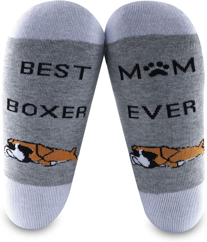 MBMSO 2Pairs BoxerMomSocksBestBoxerMomEverBoxerDogGiftsBoxerLoverGifts