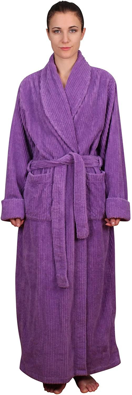 NDK New York Women's Chenille Full Length Robe 100% Cotton