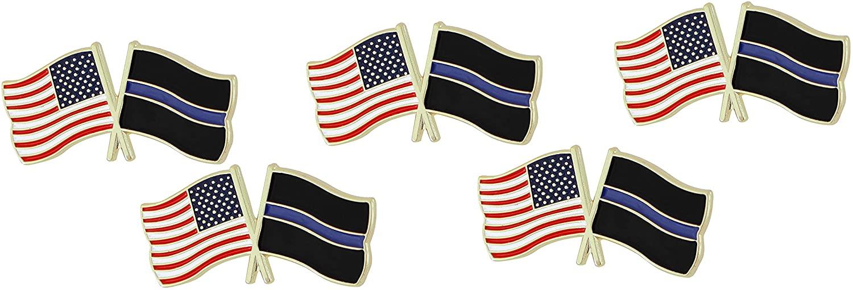 Thin Blue Line USA Flags Pin (5 Pins)