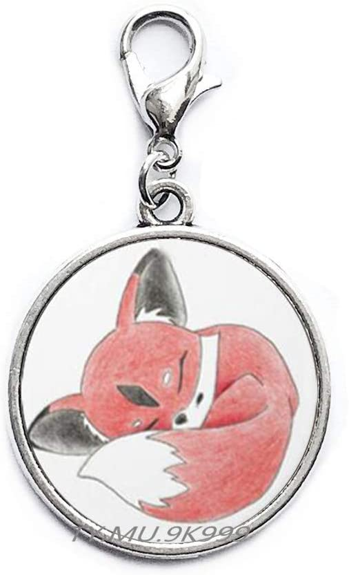 Yao0dianxku Little Fox Zipper Pull Daughter Gift Fox Jewelry Fox Lobster Clasp Red Fox Fox Tail Animal Lobster Clasp Animal Jewellery Wild Animal s Jewelry ren.Y079